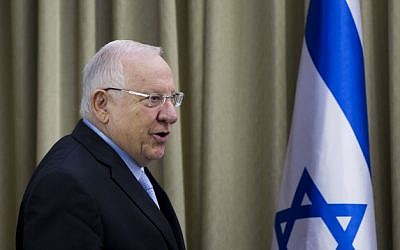 President Reuven Rivlin at the President's Residence in Jerusalem on March 22, 2015. (Yonatan Sindel/Flash90)