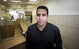 Menny Naftali, the former caretaker at the Prime Minister's Residence, at the Jerusalem District Labor Court, March 25, 2015. (Yonatan Sindel/Flash90)