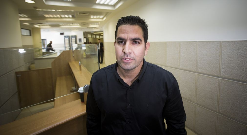 Menny Naftali, the former caretaker at the Prime Minister's Residence, at the Jerusalem District Labor Court, March 25, 2015. (Yonatan Sindel/Flash90)
