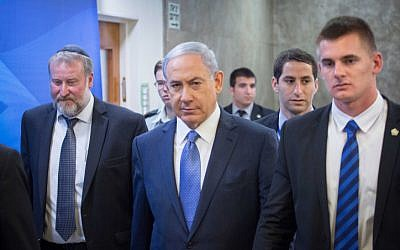 Prime Minister Benjamin Netanyahu in Jerusalem on March 29, 2015 (photo credit: Emil Salman/POOL)