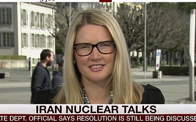 US State Department Deputy Spokesperson Mary Harf. (screen capture: MSNBC)