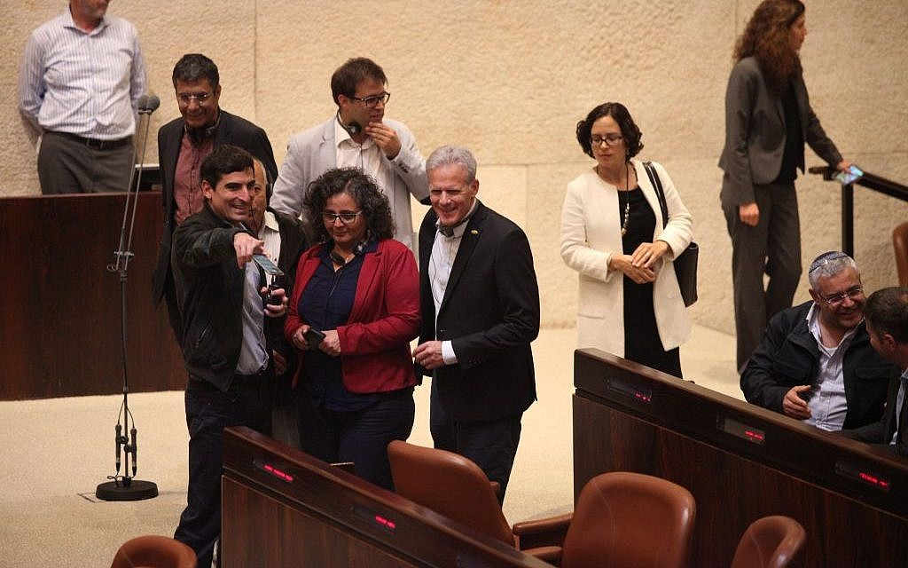 New MKs visit the Knesset on March 29, 2015 (photo credit: Knesset spokesman's office)