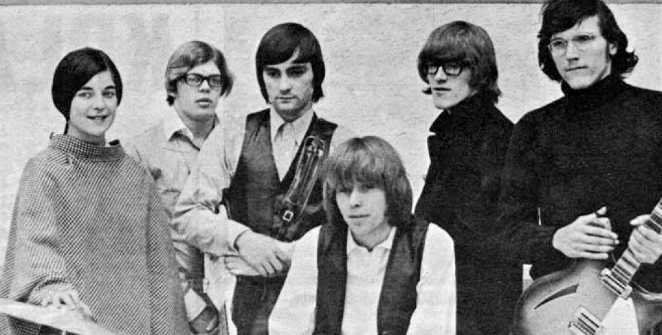Jorma Kaukonen, far right, was a member of the seminal rock band Jefferson Airplane, shown here in 1966. (Wikimedia Commons/JTA)