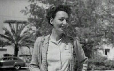 Leah Goldberg, pictured here in 1946, was a prolific writer and poet whose poetry was put to music only after she died (Courtesy The David B. Keidan Collection of Digital Images from the Central Zionist Archives)