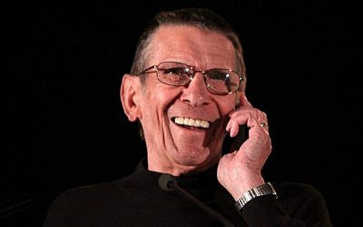 Leonard Nimoy at the Phoenix Comicon in 2011. (Gage Skidmore/Wikimedia Commons/JTA)