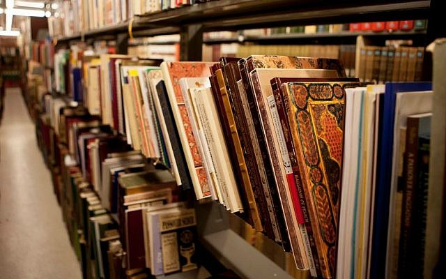 Some of the 1,800 Haggadahs donated by the Alterman family to the University of Michigan's Jean and Samuel Frankel Center for Judaic Studies. (Courtesy of the University of Michigan/JTA)