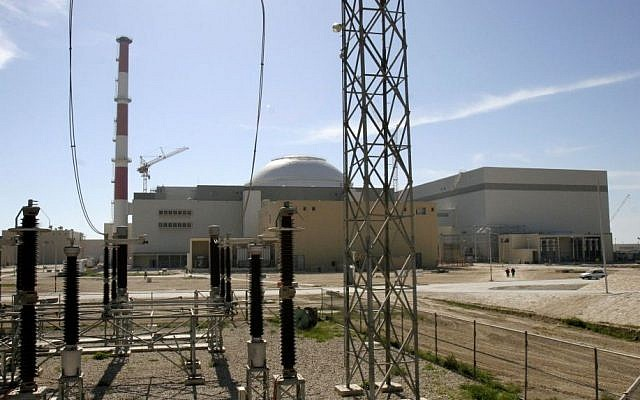 A reactor building of Iran's Bushehr nuclear power plant, February 26, 2006.  (photo credit: AP/Vahid Salemi, File)