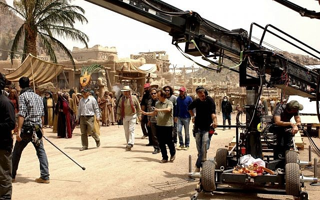 """Iranian filmmaker Majid Majidi, center, director of """"Muhammad, Messenger of God"""" movie. conducts a scene of the movie, in Allahyar village 43 miles (70 kilometers) south of the capital Tehran, Iran. In Islam, portraying the Prophet Muhammad has long been taboo for many. In the new 190-minute film, the story focuses on Muhammad's childhood, never showing his face. The movie instead focuses on others to tell his story. (photo credit: AP Photo/Nourtaban Film Industry, Mohammad Foghani)"""