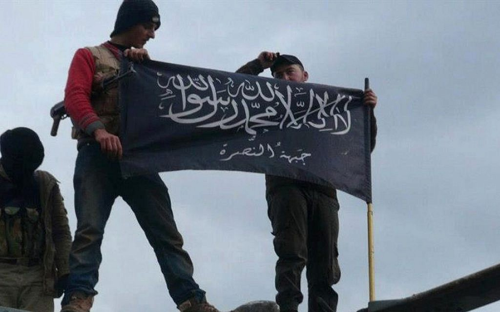 Illustrative photo of rebels from the al-Qaeda-affiliated al-Nusra Front in Idlib Province, northern Syria, January 11, 2013 (AP/Edlib News Network ENN)