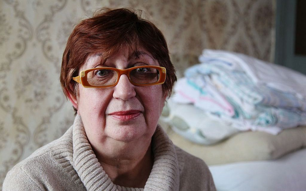 Olga Tulchinsky-Stasenko, 56, became an IDP in August 2014 and now lives in Kharkov with the support of the JDC. (courtesy JDC)