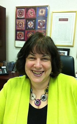 Rabbi Debra Cantor her study at the synagogue, B'nai Tikvoh-Sholom in Bloomfield, Connecticut. (courtesy)