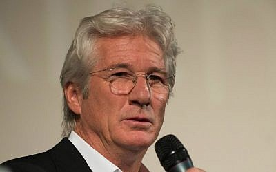 Actor Richard Gere landed in Israel Monday night; he stars in Joseph Cedar's latest film (photo credit: Zff2012/CC BY-SA 3.0)