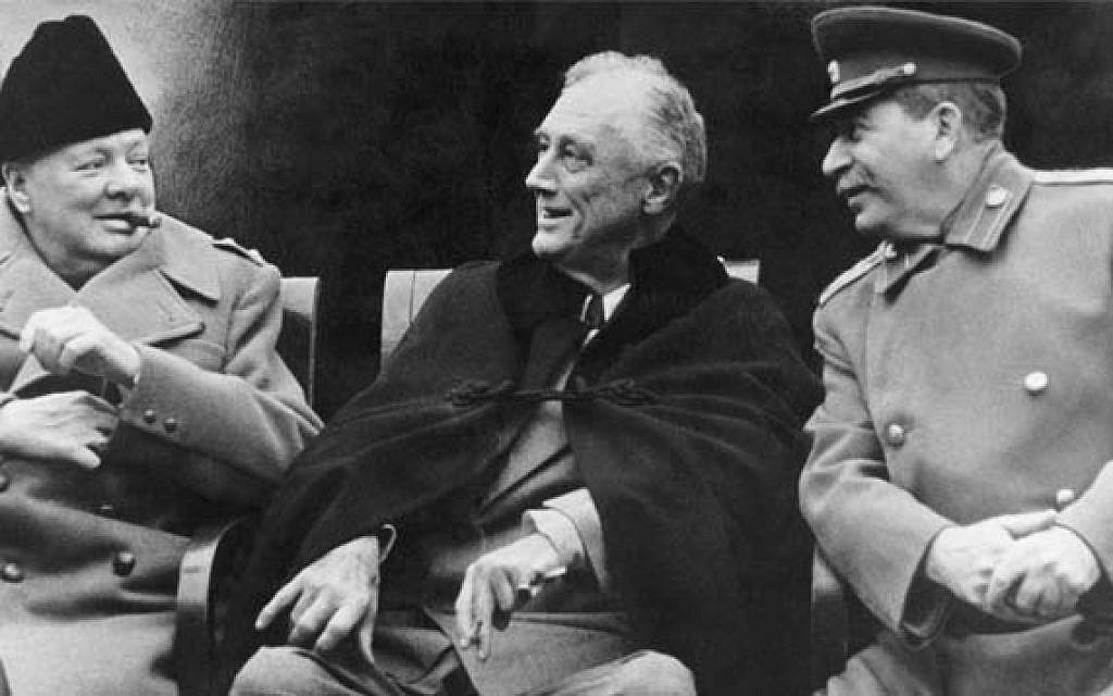 Leaders of the allied powers during WW II (photo: Courtesy)