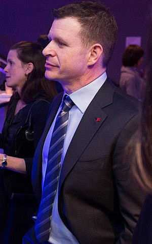 Emmy-Award winning producer Andrew Goldberg of new PBS documentary 'The Jewish Journey' at the documentary's premier February 26, 2015. (Peter A. Blacksberg)
