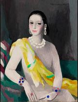 Marie Laurencin, Portrait of Helena Rubinstein, 1934 (photo credit: Courtesy The Jewish Museum, collection, Stowe, Vermont / copyright Fondation Foujita / Artists Rights Society (ARS), New York / ADAGP, Paris 2014)