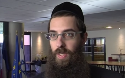 Toulouse Chief Rabbi Avraham Weill (screen capture: YouTube/TLT - TéléToulouse)