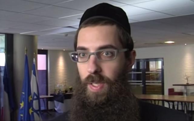 Toulouse Chief Rabbi Avraham Weill (screen capture: YouTube/TLT - TéléToulouse)