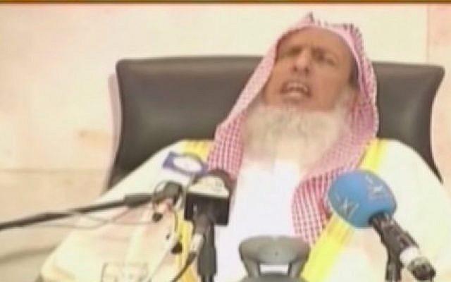 Saudi Arabia's top Muslim cleric Sheikh Abdul Aziz bin Abdullah (photo credit: YouTube screen grab)