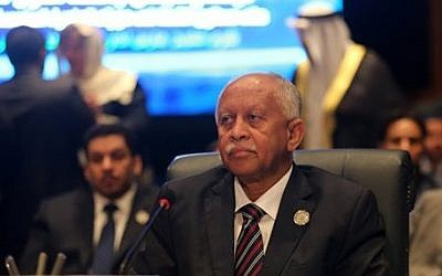 FILE: Yemeni Foreign Minister Riad Yassin attends an Arab foreign ministers meeting during an Arab summit in Sharm el-Sheikh, South Sinai, Egypt, Sunday, March 29, 2015. (Thomas Hartwell/AP)