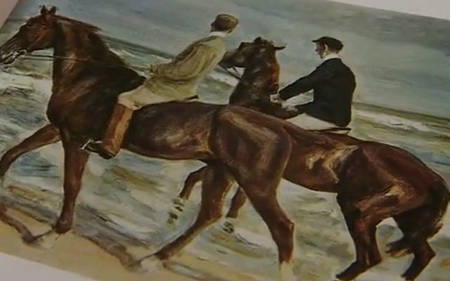 "Max Liebermann's ""Two riders on the beach"" (YouTube screen capture)"