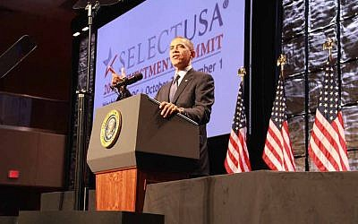 President Obama speaks at the 2013 SelectUSA Summit (Photo credit: US Dept of Commerce)