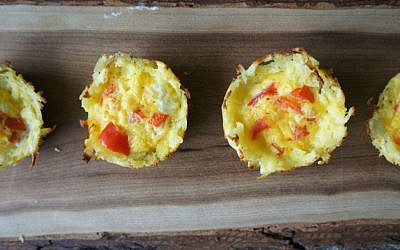 These egg potato muffins are an easy, delicious Passover breakfast or snack for adults and kids alike. (Shannon Sarna/JTA)