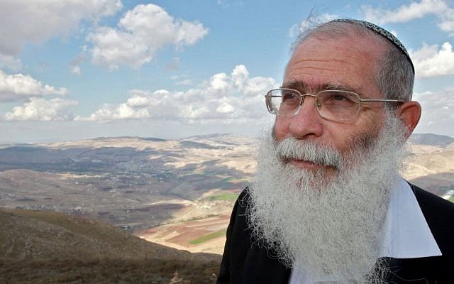 Rabbi Elyakim Levanon, head of the Elon Moreh yeshiva, is the chief rabbi of the Samaria settlements and the rabbi of the Kippa website (photo credit: Nati Shohat/Flash 90)