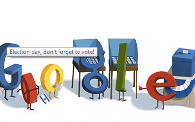 Google's election-themed doodle in January 2013. (screen capture, google.co.il)