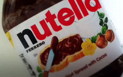 An illustrative of a Nutella jar. (screen capture: YouTube)