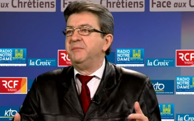 Left-wing French politician Jean-Luc Mélenchon in a March 2015 interview. (screen capture: YouTube)