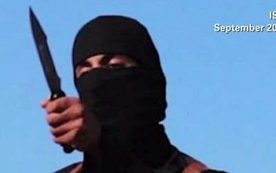 Jihaid John', later identified as Mohammed Emwazi, as he appeared in an Islamic State video. (screen capture: YouTube/CNN)