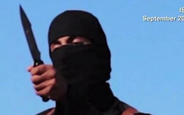 Jihaid John', later identified as Mohammed Emwazi, as he appeared in an Islamic State video. (screen capture: YouTube/CNN)
