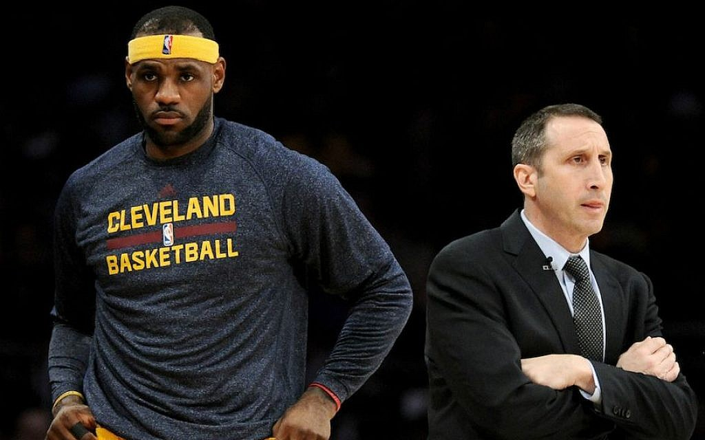 Coach David Blatt and star player LeBron James both say that Blatt has made the needed adjustments in his rookie season guiding the Cleveland Cavaliers. (Harry How/Getty Images/JTA)