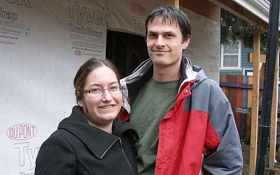 Theo and Sonia Marie Leikam are opening a community-supported kosher brewery in their Portland backyard. (Anthony Weiss/JTA)