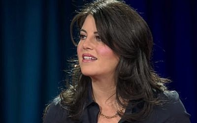 Monica Lewinsky in a TED talk on March 20, 2015 (photo credit: YouTube screenshot)