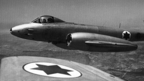 The British-made Meteor, the IAF's first jet plane (photo credit: Israeli Air Force)