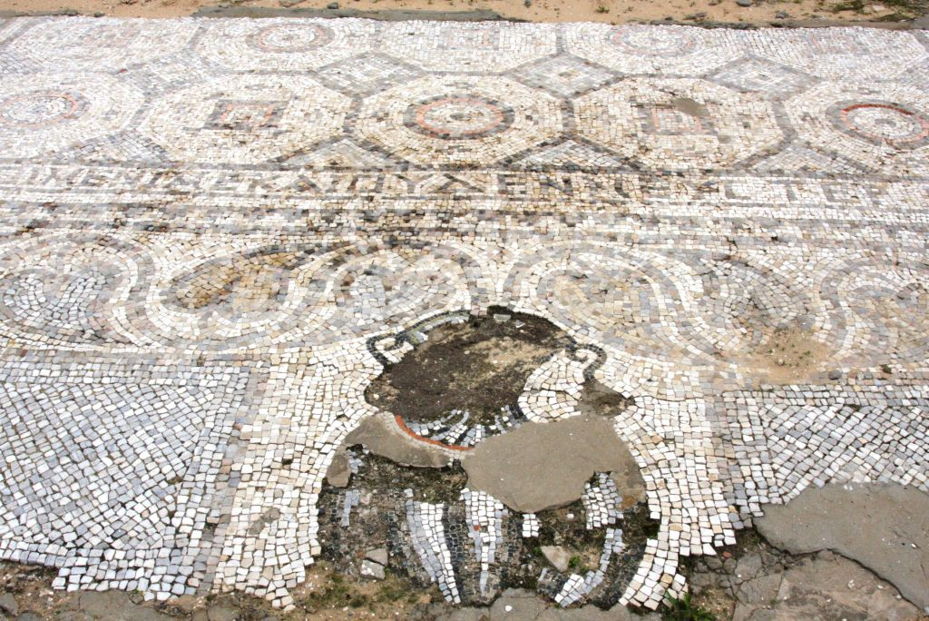 Ashkelon's roadside mosaic (photo credit: Shmuel Bar-Am)