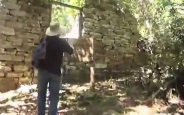 A stone structure in the Teyú Cuaré national park, Argentina, allegedly used as Nazi war criminal hideout. (screen capture: YouTube/WebTV40)