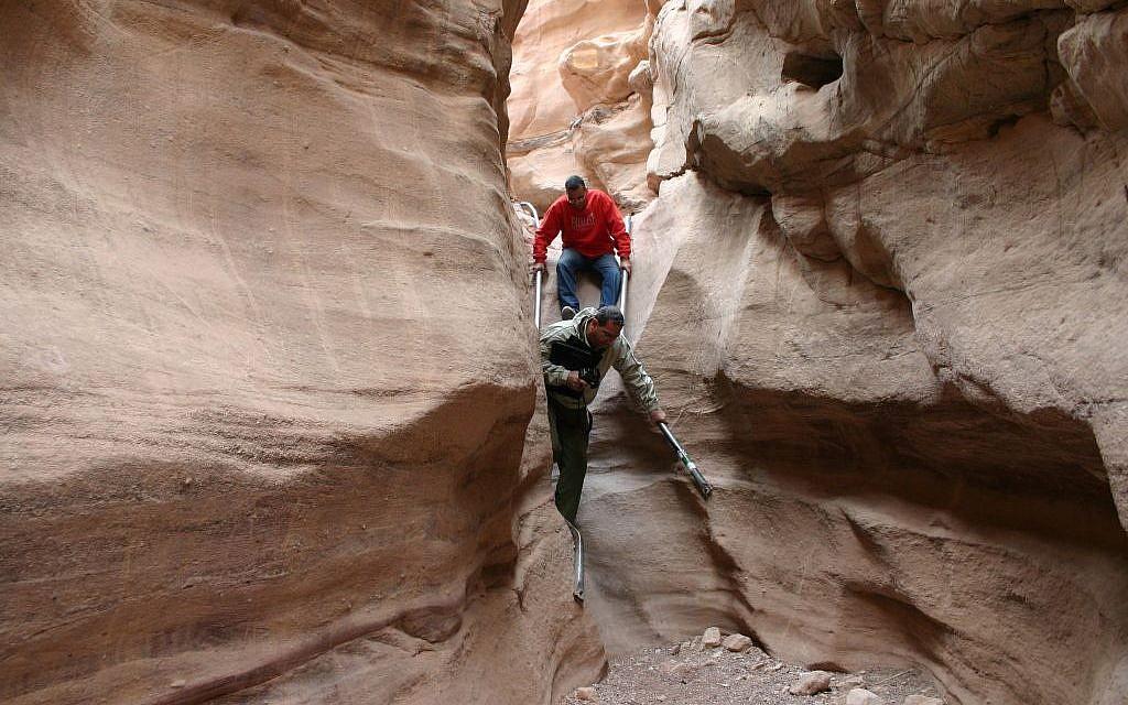 Inside Eilat's Red Canyon (photo credit: Shmuel Bar-Am)