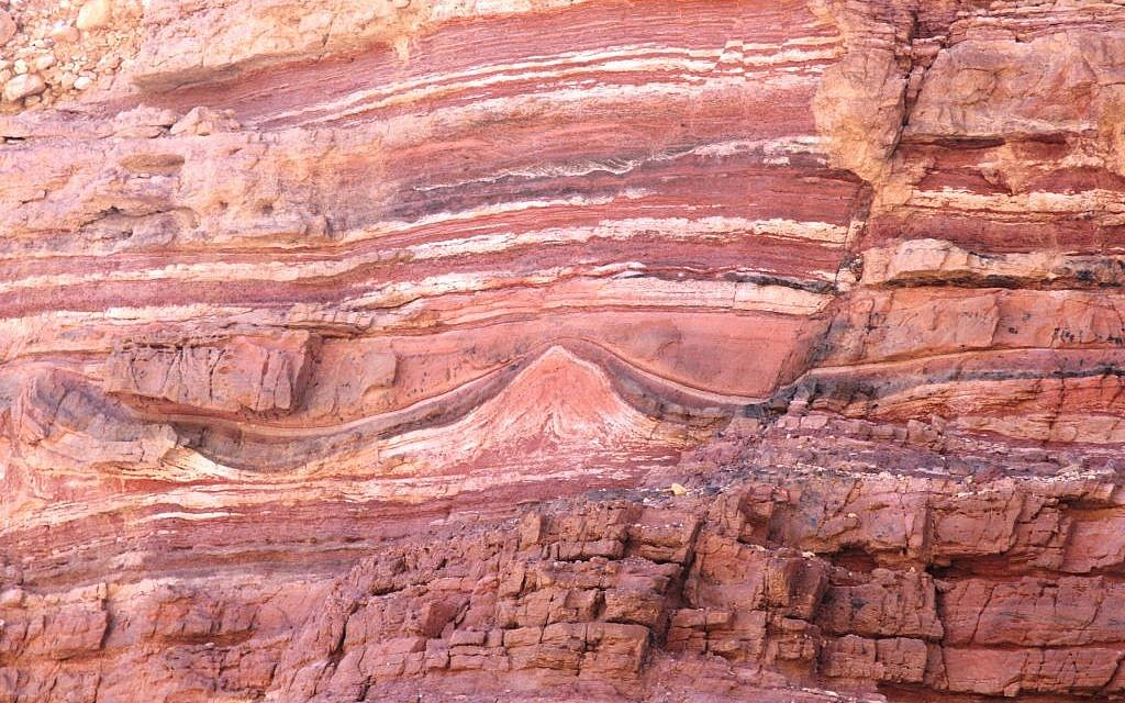 Exquisite colors in Eilat's Red Canyon (photo credit: Shmuel Bar-Am)