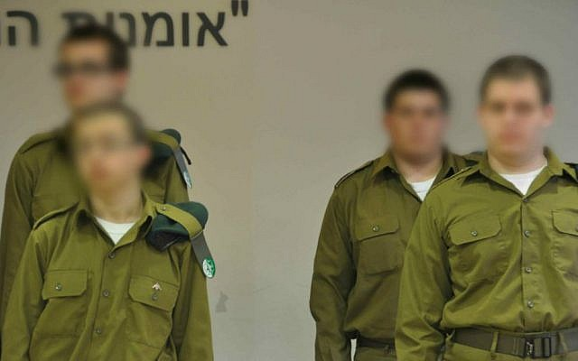 Some of the Roim Rachok program soldiers at the base (photo credit: IDF Spokesperson's Unit)