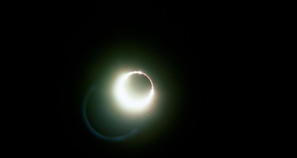 The configuration of a full solar eclipse. (courtesy Bob O'Dell)