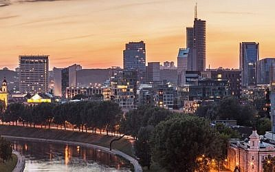 Illustrative photo of the Lithuanian capital Vilnius. (Photo credit: Vilnius image via Shutterstock).