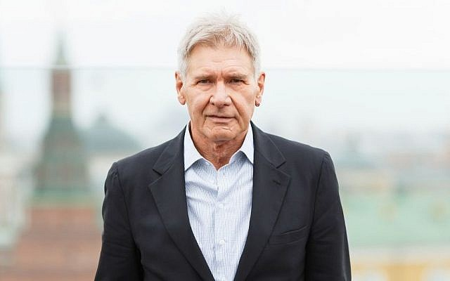 Actor Harrison Ford during a 2013 movie premiere in Moscow. (Photo credit: Harrison Firde immage via Shutterstock)