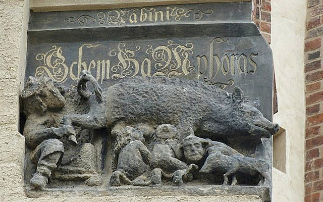 This Carving On The Facade Of Martin Lutheru0027s Church In Wittenberg, Germany  Shows Jews Suckling