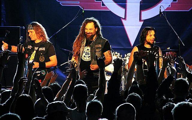 The Hungarian band Tankcsapda performing on stage. (photo credit: Facebook)