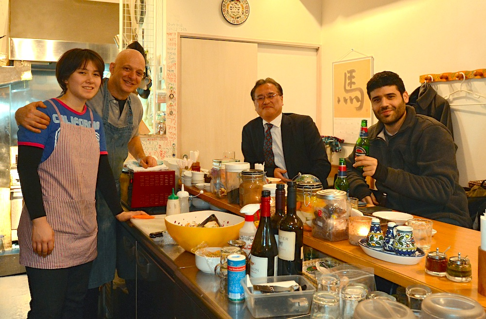 Dan Zuckerman Second From Left At His Tokyo Restaurant Ta Im Dec