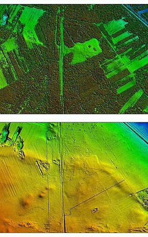The LiDAR technique helped forensic archeologist Caroline Sturdy Colls 'strip bare' the former Nazi death camp at Treblinka, in eastern Poland, without digging one hole. (courtesy: Caroline Sturdy Colls and Furneaux and Edgar Productions)