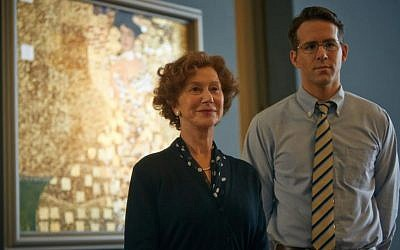 Helen Mirren and Ryan Reynolds as Maria Altmann and Ryan Reynolds as her lawyer Randol Schoenberg in 'Woman in Gold.' (Courtesy: The Weinstein Company)