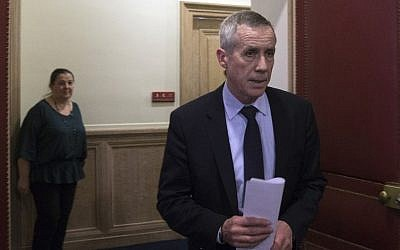 Paris Prosecutor Francois Molins arrives for a press conference at the Paris court on April 22, 2015, following the arrest of an IT student who allegedly planned a church attack in France, just over three months after Paris was hit by a jihadist killing spree. (Photo credit: AFP)